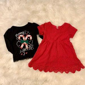 Christmas dress/T-shirt bundle